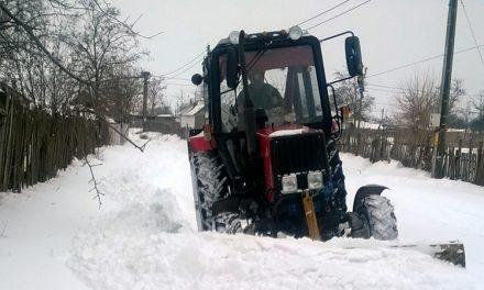 Județul Tulcea îngropat în zăpadă