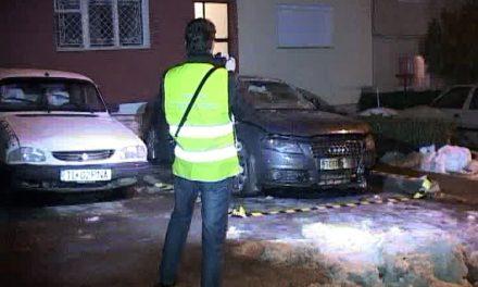 Mașina unui agent local de poliție, incendiată în cartierul C5