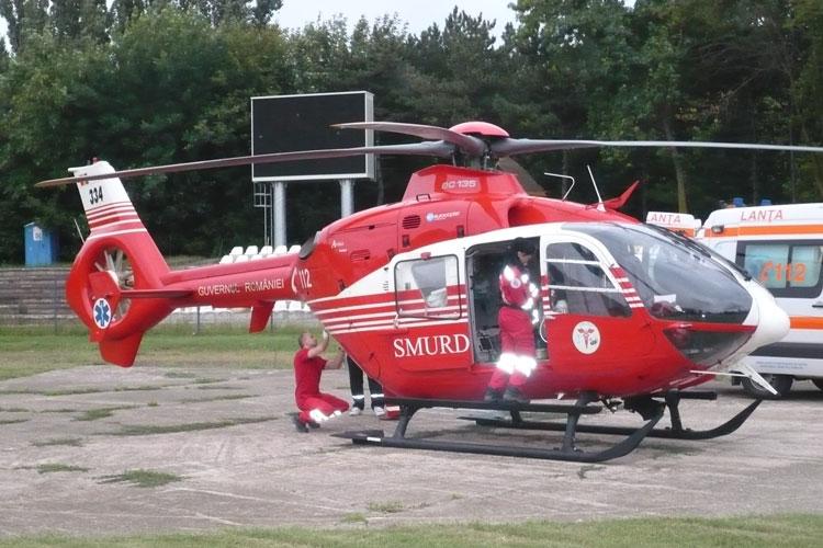 Elicopter SMURD pentru misiuni de salvare la Tulcea