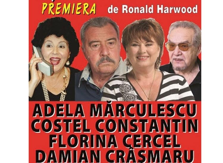 Patru mari nume ale teatrului românesc, pe scena tulceană