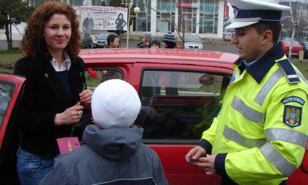 Poliţia Rutieră Tulcea a sărbătorit în trafic ziua de 1 martie