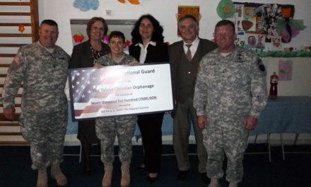 "Armata SUA a donat un CEC de 7.500 de lei Centrului de Plasament ""Pelican"""