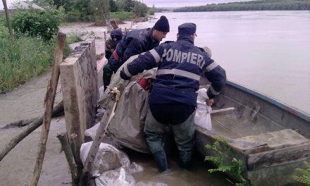 Armata intervine la Nufăru pentru înălţarea digului de protecţie