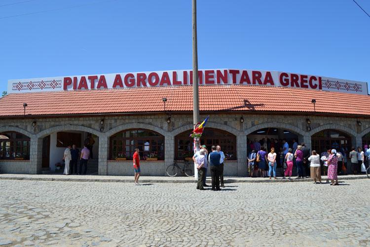 Piaţă agroalimentară modernă, la Greci