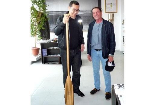 Victor Ponta şi Ivan Patzaichin au inaugurat, pe faleză, un magazin de suveniruri sub brandul Deltei