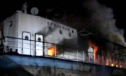 Nava de protocol a lui Ceauşescu şi-a găsit sfârşitul în flăcări