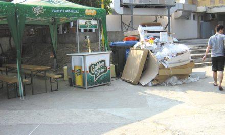 Ploaia nu i-a speriat pe petrecăreţii tulceni: au aruncat la coşuri aproape 9 tone de gunoaie!