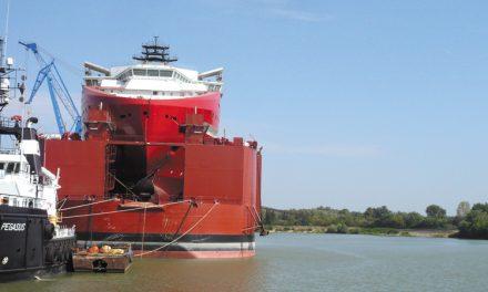 VARD Tulcea a lansat cea mai mare navă offshore construită în România