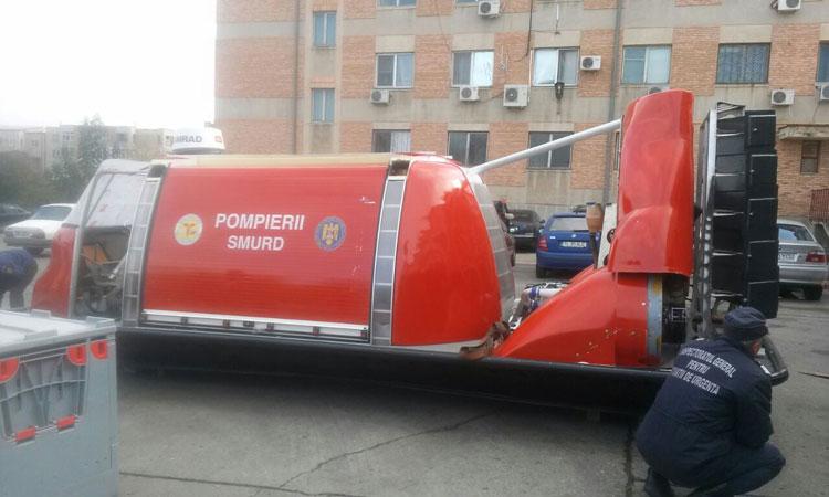 De la Fundaţia pentru SMURD: Şalupă şi hovercraft pentru sistemul de urgenţă din judeţul Tulcea