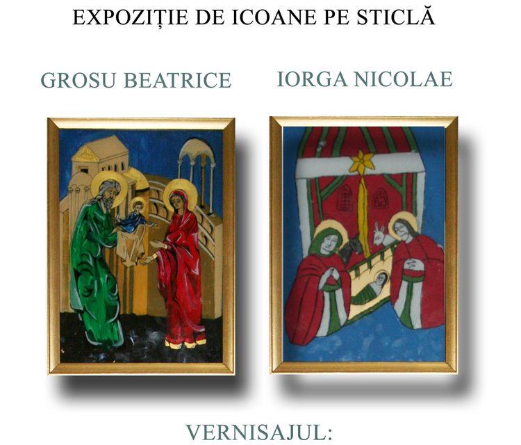 Expoziţie de icoane pe sticlă, vernisată la Muzeul de Etnografie