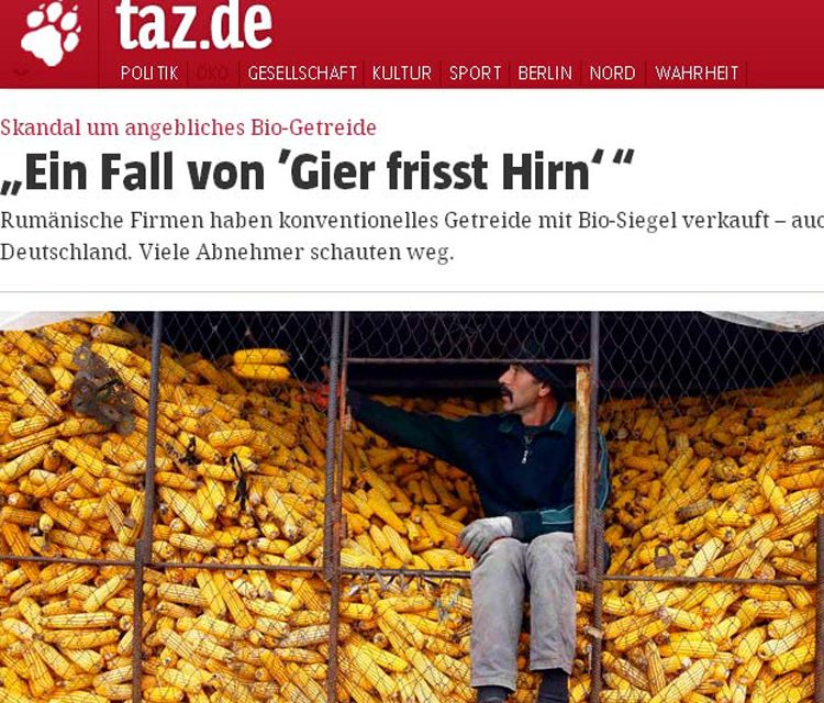 O firmă din Tulcea, furnizor pentru Europa de cereale bio doar pe hârtie