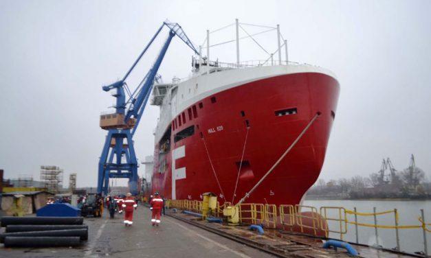 Ultima lansare de navă în 2014 la VARD Tulcea