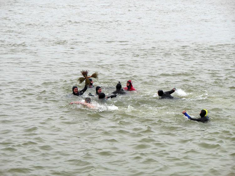 De Bobotează, mai mulţi tineri tulcenis-au aruncat după cruce