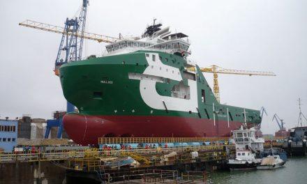 Prima lansare de navă în 2015 la VARD Tulcea
