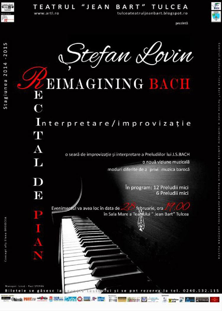 """Pianistul Ştefan Lovin, concert de excepţie la Teatrul """"Jean Bart"""""""