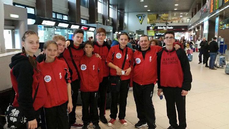 Elevii maestrului Pănuţă au plecat la Campionatul European de Karate Kyokushin de la Moscova