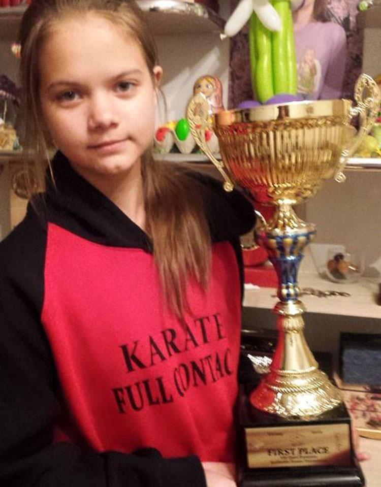 Tulceanca Lavinia Andreea Dunaev, campioană europeană la karate kyokushin