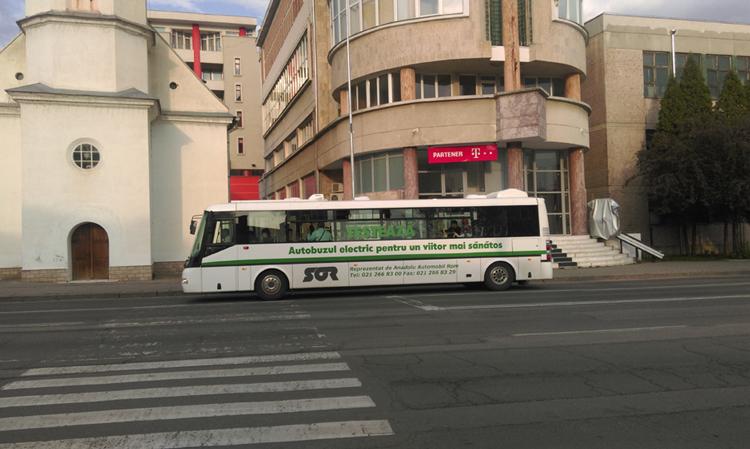 Timp de trei zile, Tulcenii vor putea călători gratis cu primul autobuz electric din istoria oraşului