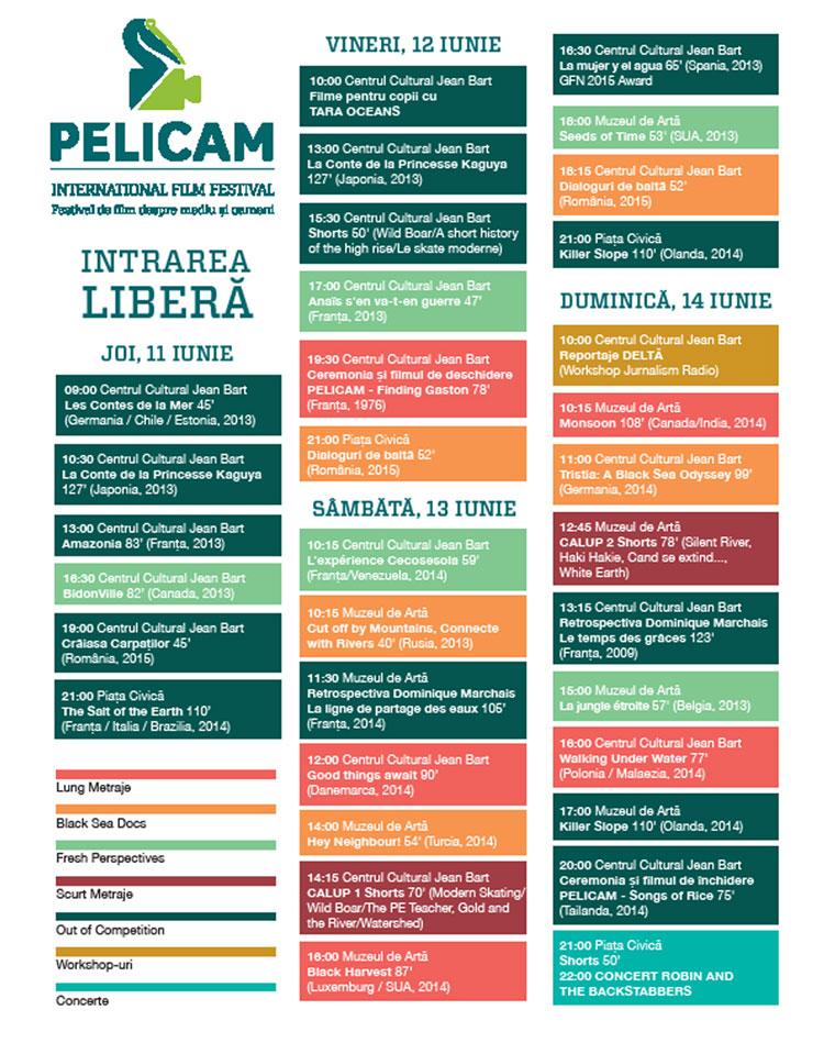 Vara cinefililor de mediu începe la Tulcea: Pelicam 2015,  la start