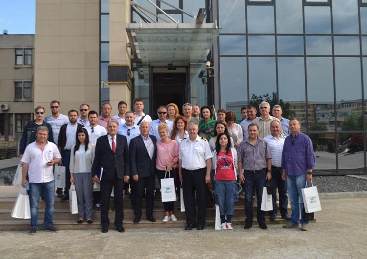 Cursanţi ai Colegiului Naţional de Apărare, în vizită la Consiliul Judeţean Tulcea