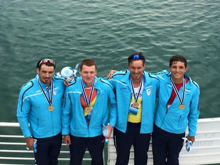 Trei tulceni de aur în echipajul de canoe 4 la Mondialele de la Milano
