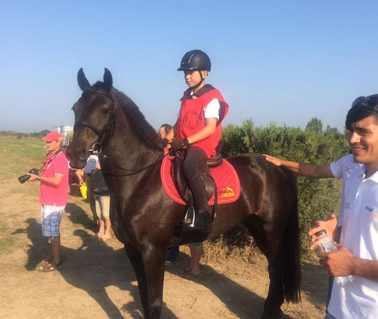 Cursă excepţională a călăreţului Alexandru Caragea