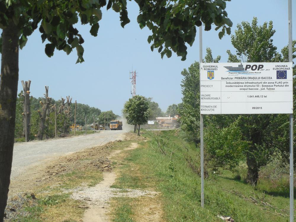 Proiecte de succes prin FLAG Delta: şoseaua portului din Isaccea a fost modernizată cu fonduri europene