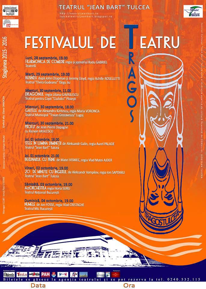 """Biletele pentru spectacolele din cadrul Festivalului de Teatru """"Tragos"""" se dau ca pâinea caldă!"""