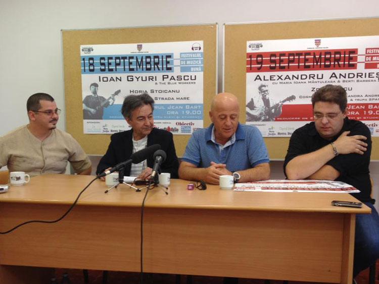 Ioan Gyuri Pascu, Alexandru Andrieş şi Berti Barbera concertează la Tulcea