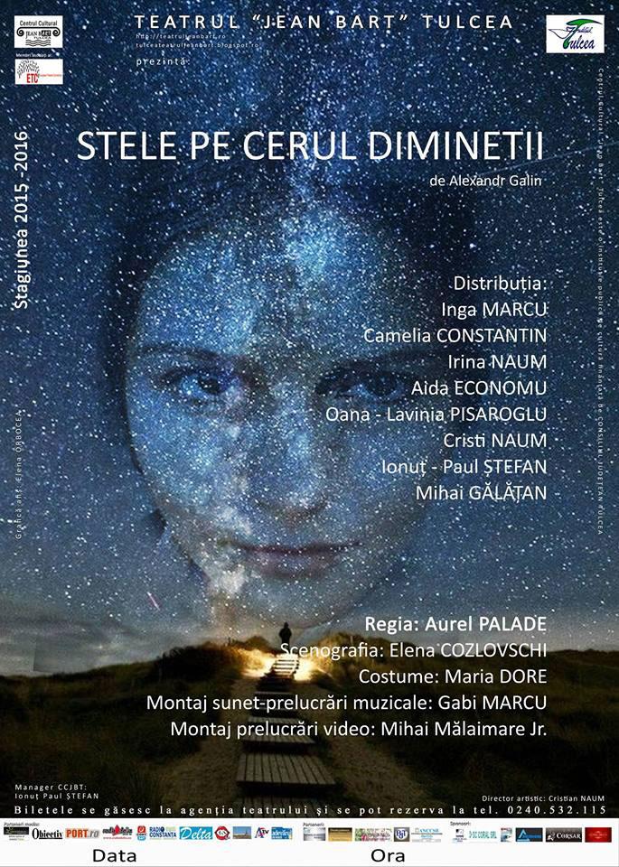 """Noua stagiune a Teatrului """"Jean Bart"""", deschisă cu premiera piesei """"Stele pe cerul dimineţii"""""""