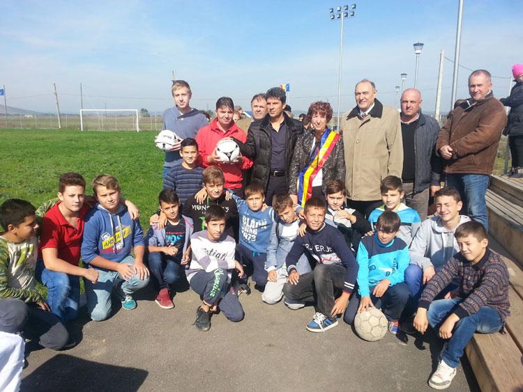 Bază sportivă, inaugurată la Ceamurlia de Jos