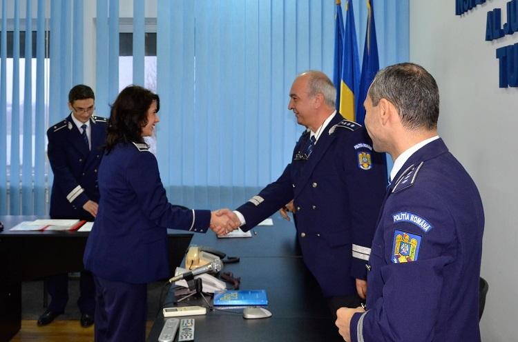 Avansări în grad la IPJ Tulcea, înaintea Zilei Naţionale a României