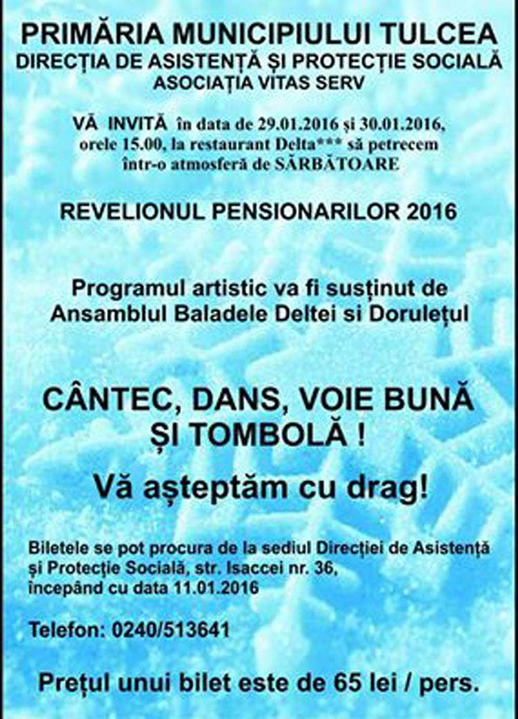Biletele pentru Revelionul pensionarilor, disponibile de astăzi
