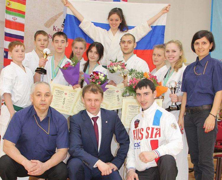 Lotul Rusiei pentru Campionatul Mondial de Karate Kyokushin, antrenament în Delta Dunării