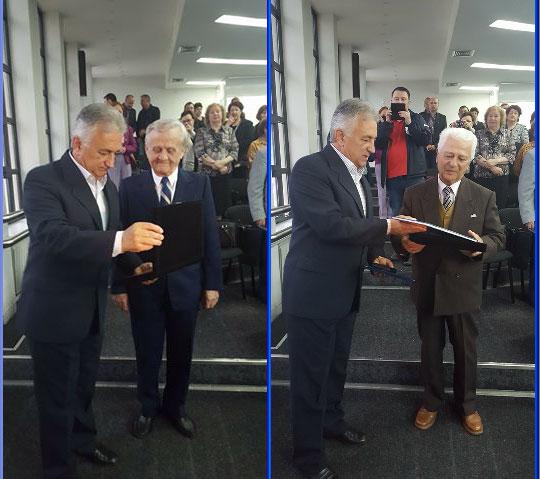 Victor Henrich Baumann şi Roman Jora, cetăţeni de onoare ai municipiului