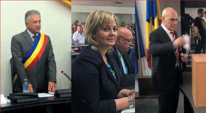 Primarul Constantin Hogea a depus jurământul, noii viceprimari ai municipiului sunt Andaluzia Luca şi Petre Marinescu
