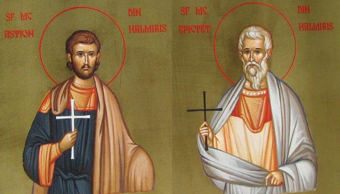 Prăznuirea celor mai vechi sfinţi din România, Mucenicii Epictet şi Astion