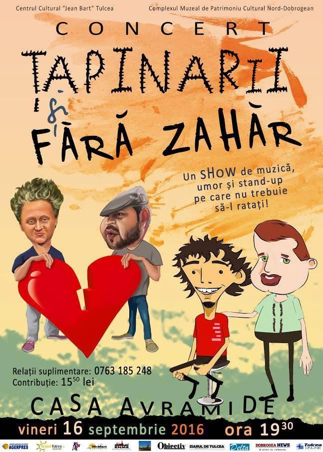 """Show de excepţie susţinut la Tulcea de Ţapinarii şi Fără Zahăr în deschiderea Festivalului de Teatrul """"Tragos"""""""