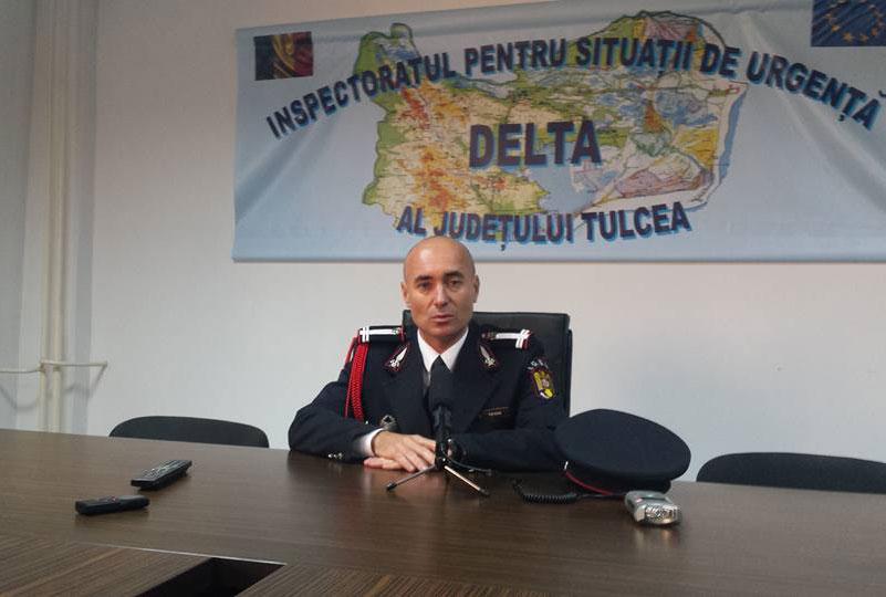 Lt. col. Daniel Petrov, noul şef al pompierilor tulceni