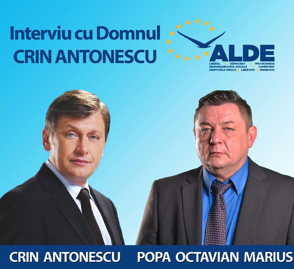 """Crin Antonescu: """"Eu dacă aş mai vota în Tulcea aş vota indiscutabil  cu Octavian Marius Popa"""""""