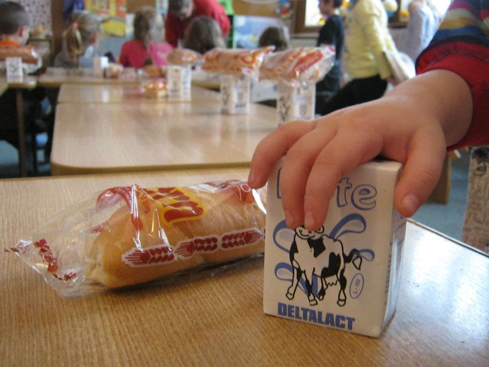 Firma Deltalact S.A., furnizorul de lapte în şcolile tulcene, amendată  alături de alte patru societăţi pentru trucarea unor licitaţii