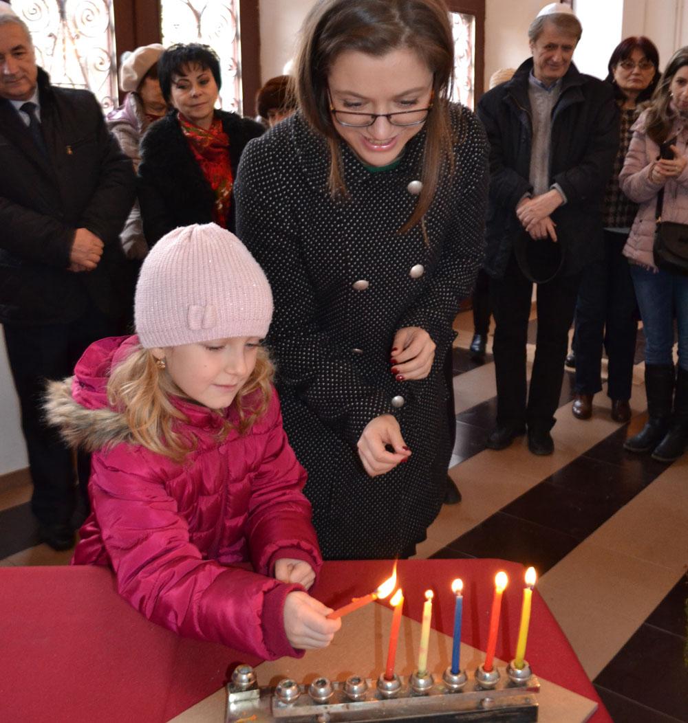 Sărbătoarea de Hanuka, celebrată şi de comunitatea evreiască din Tulcea