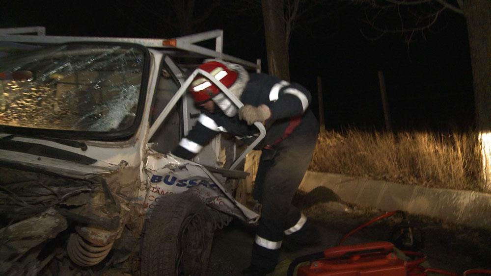 Accident pe şoseaua Tulcea – Agighiol: echipajul de descarcerare al ISU, chemat să intervină