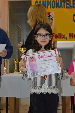 Tulceanca Maria Pufleni, medalie de bronz la Campionatul Naţional de Şah Rapid
