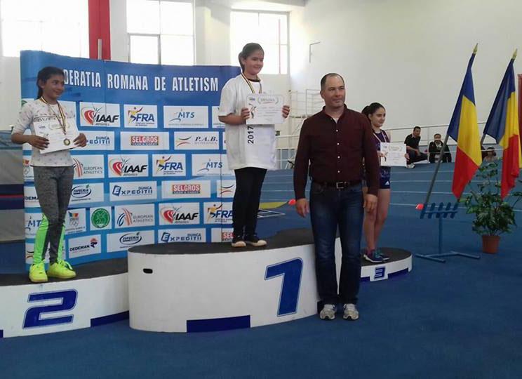 Adina Andrei din Turcoaia, campioană naţională  la aruncarea greutăţii