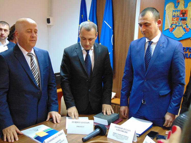 Avocatul Lucian Furdui a preluat oficial funcţia de prefect de Tulcea
