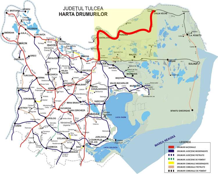 Proiectul pentru reabilitarea drumului spre  Delta Dunării va fi depus spre finanţare