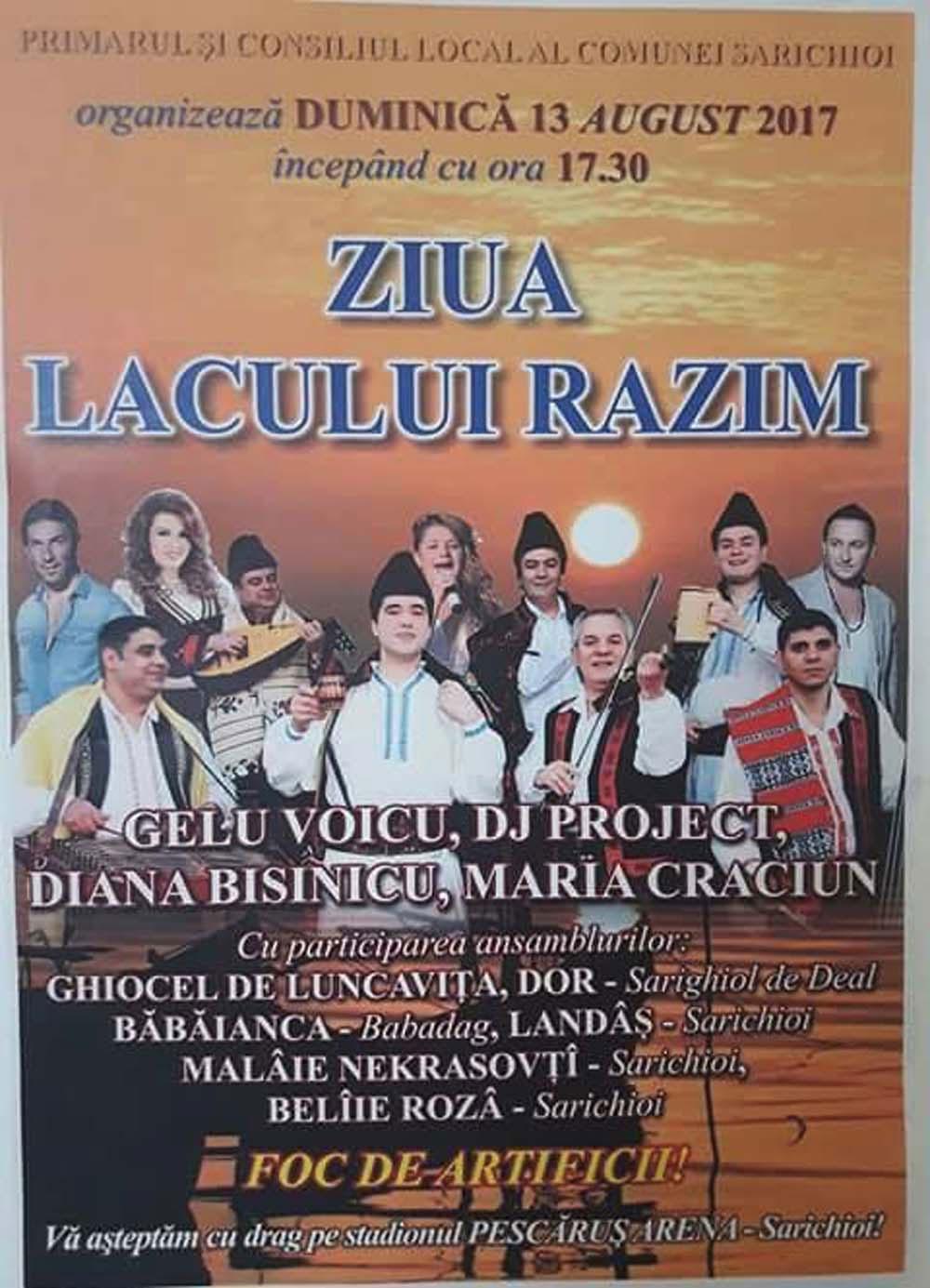 Ziua Lacului Razim – Gelu Voicu şi Diana Bişinicu, pe scenă la Sarichioi
