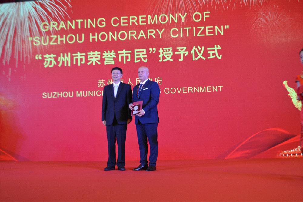 Preşedintele Consiliului Judeţean Tulcea,  cetăţean de onoare al Oraşului Suzhou din China