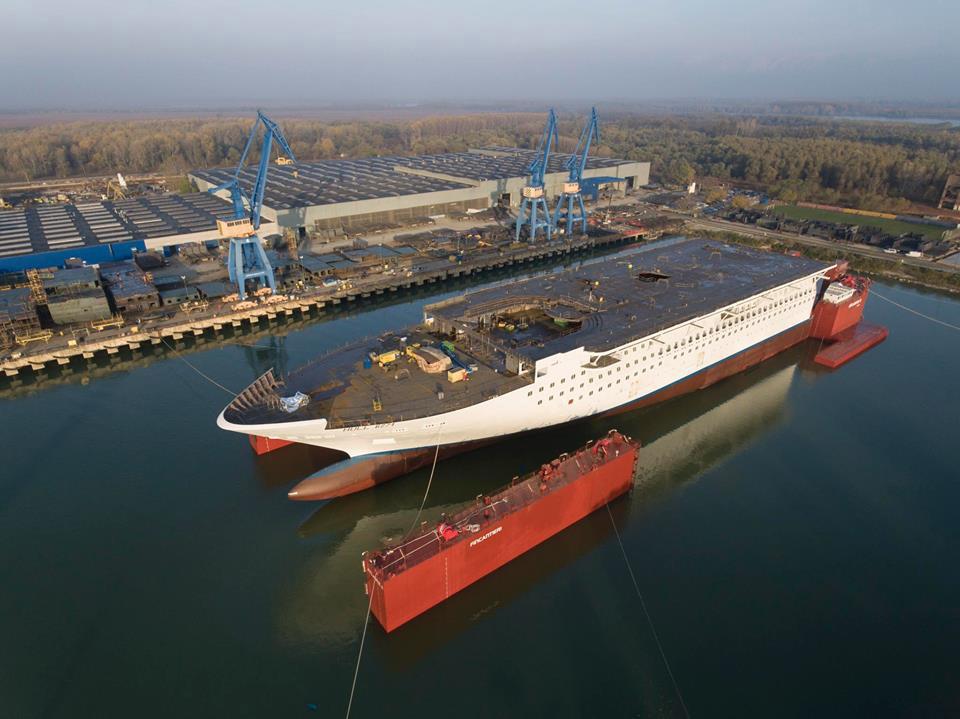 Navă de croazieră gigant, în construcţie la VARD